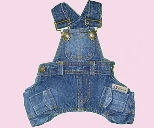 classic dog denim coverall